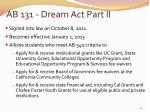 ab 131 dream act part ii