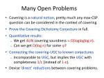 many open problems