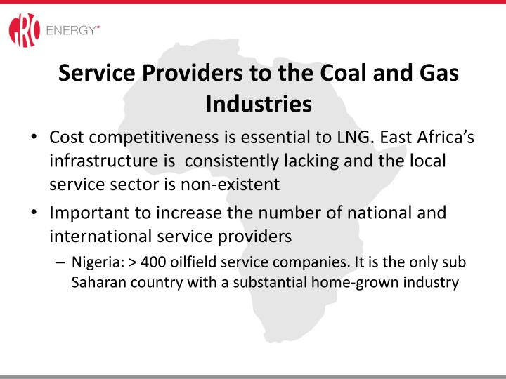 Service Providers to the Coal and Gas Industries