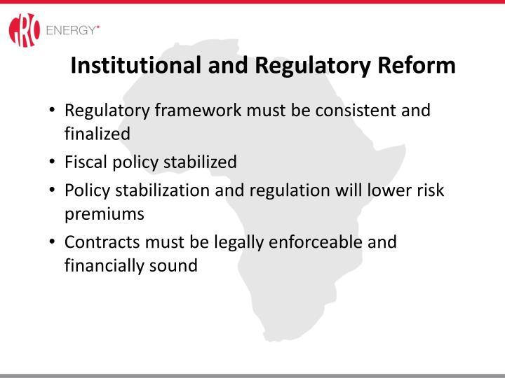 Institutional and Regulatory Reform
