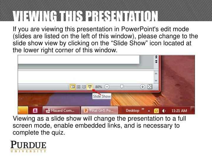 viewing this presentation n.