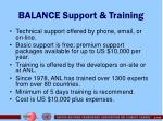 balance support training