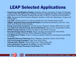 leap selected applications