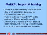 markal support training