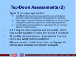 top down assessments 2