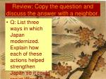 review copy the question and discuss the answer with a neighbor2