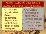 review copy the question and discuss the answer with a neighbor5