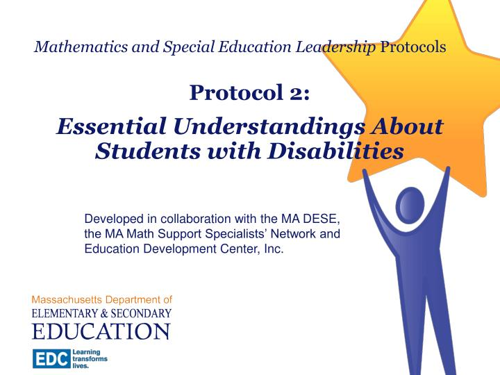 mathematics and special education leadership protocols n.