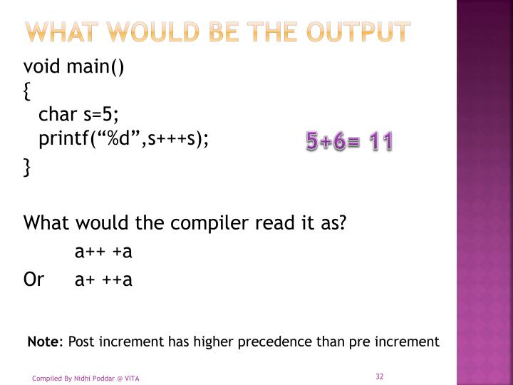 What would be the output