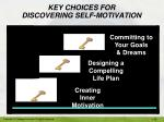 key choices for discovering self motivation