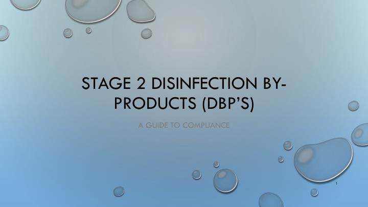 stage 2 disinfection by products dbp s n.