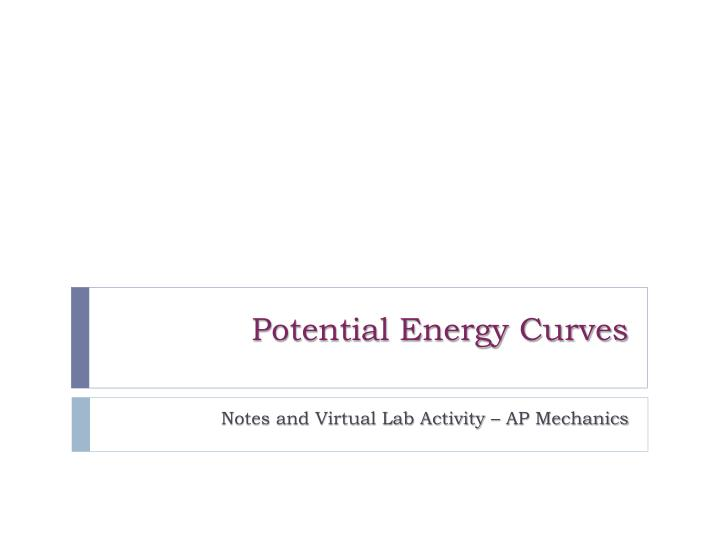 Potential energy curves