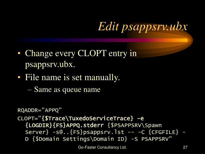 Edit psappsrv.ubx