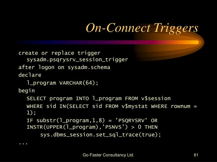 On-Connect Triggers