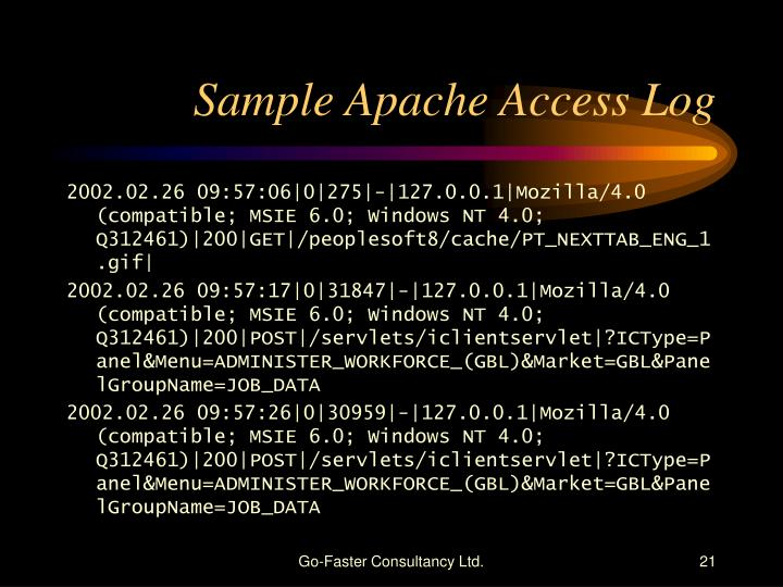 Sample Apache Access Log