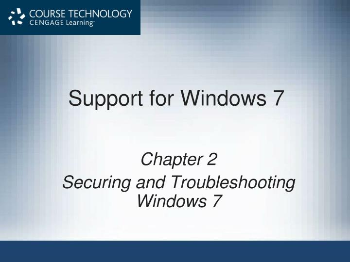support for windows 7 n.