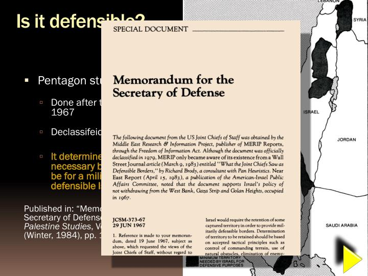 Is it defensible?