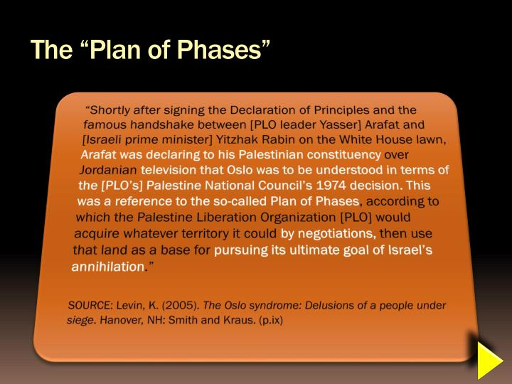 """The """"Plan of Phases"""""""