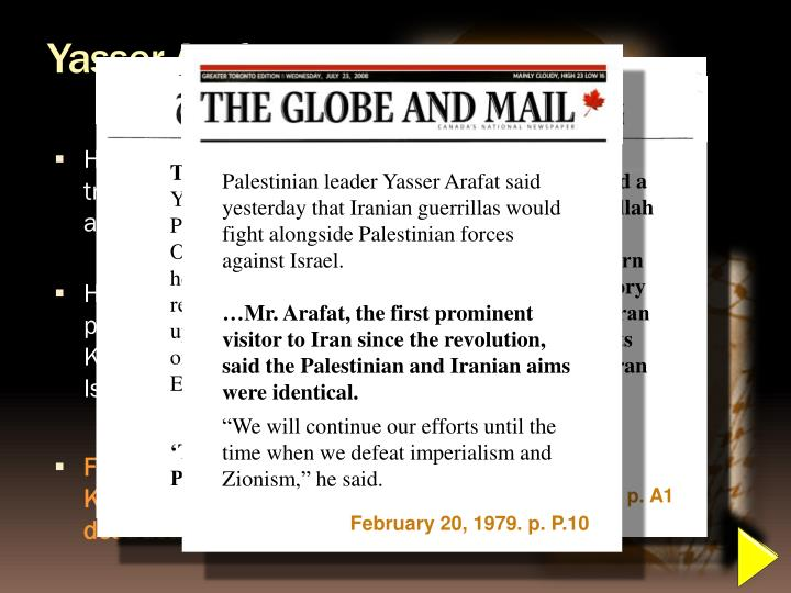 Yasser Arafat :