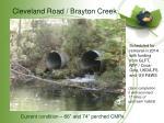 cleveland road brayton creek