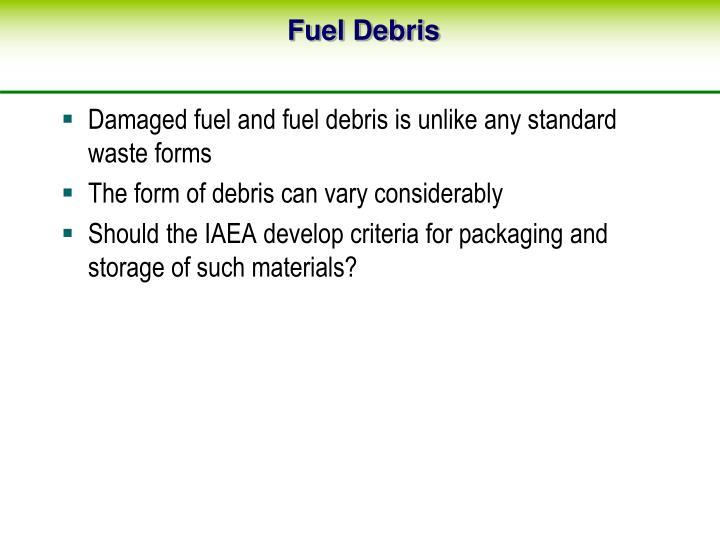 Fuel Debris