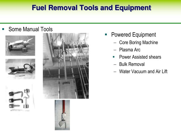 Fuel Removal Tools and Equipment