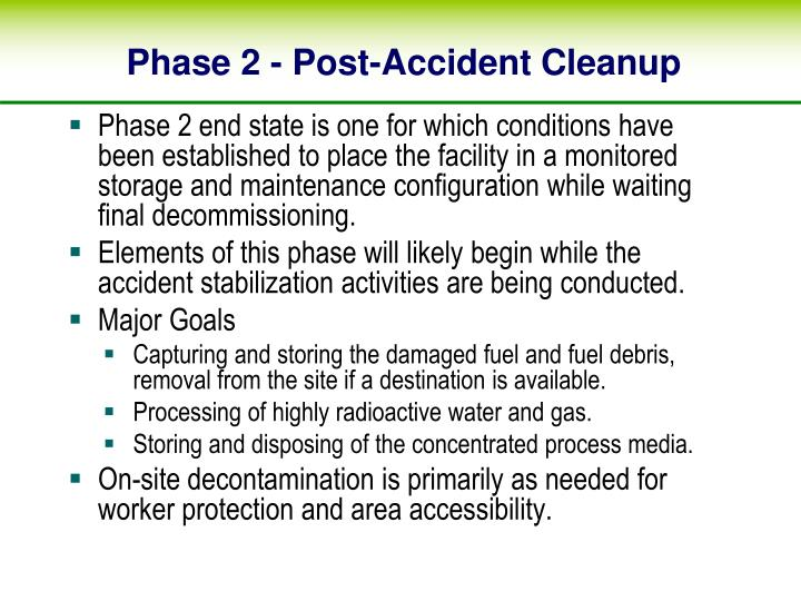 Phase 2 - Post-Accident Cleanup