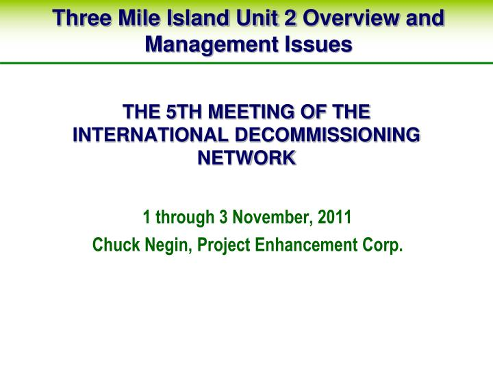 the 5th meeting of the international decommissioning network n.