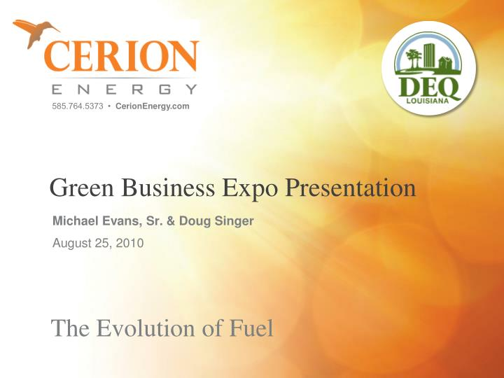 green business expo presentation n.