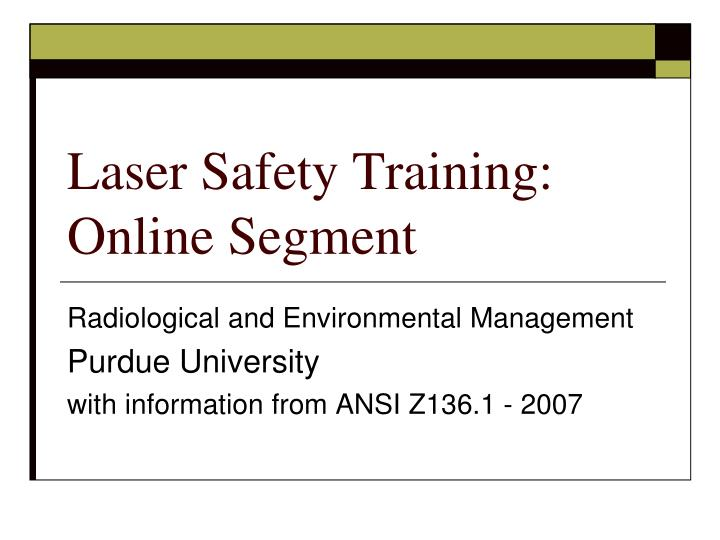 laser safety training online segment n.