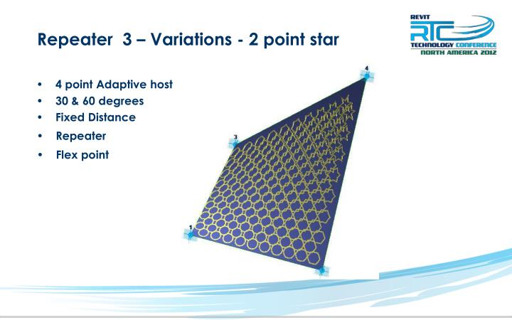 Repeater  3 – Variations - 2 point star
