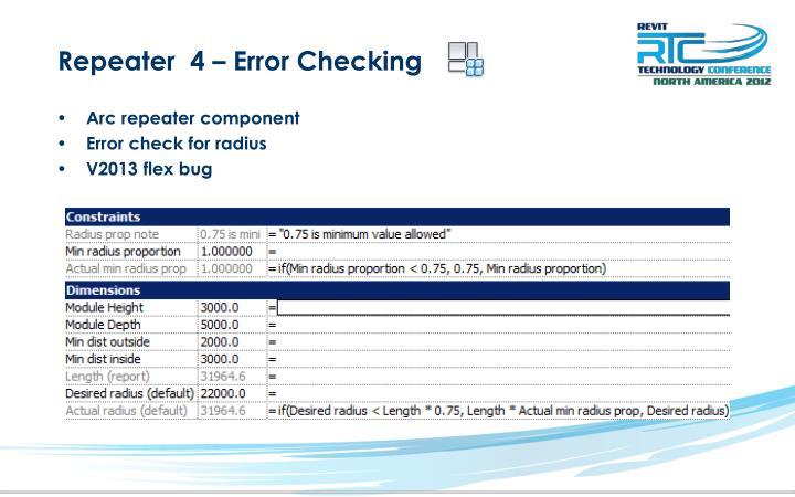 Repeater  4 – Error Checking