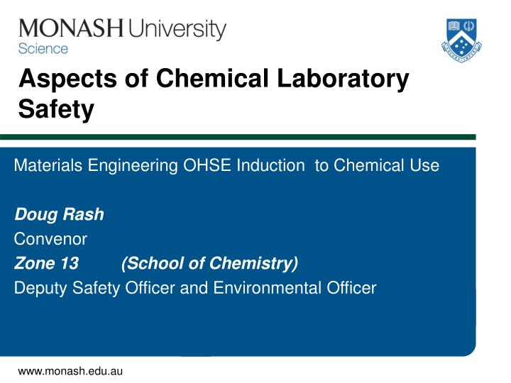 aspects of chemical laboratory safety n.