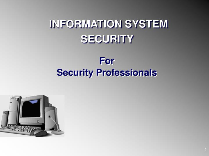 for security professionals n.