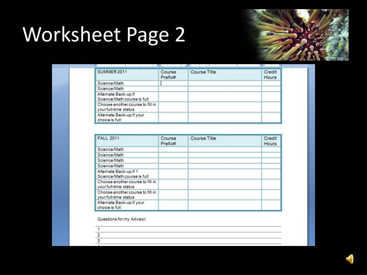 Worksheet Page 2