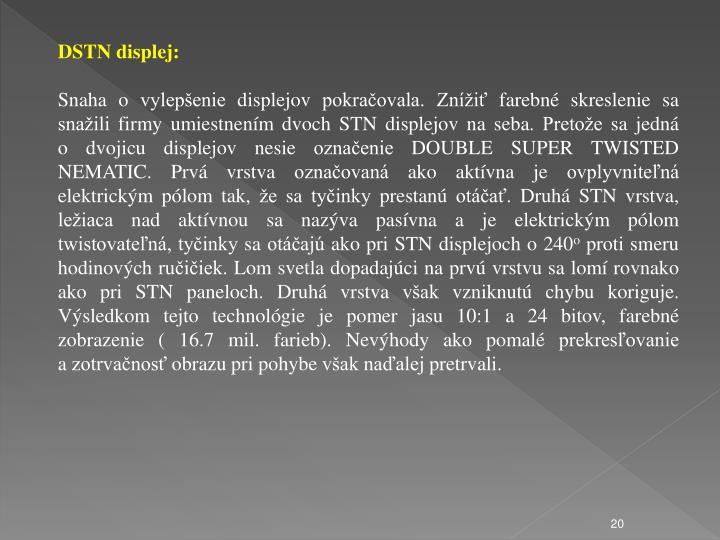 DSTN displej: