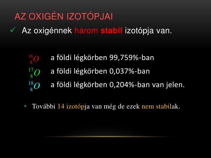 Az oxigén