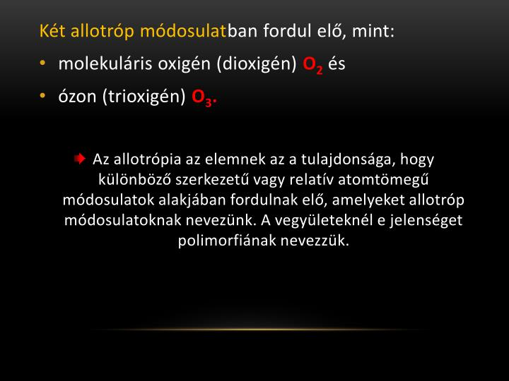 Két allotróp módosulat