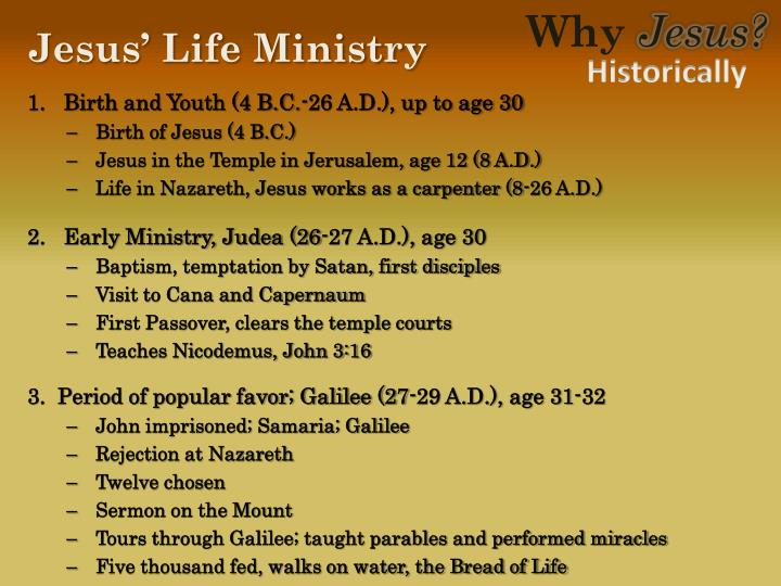 Jesus life ministry