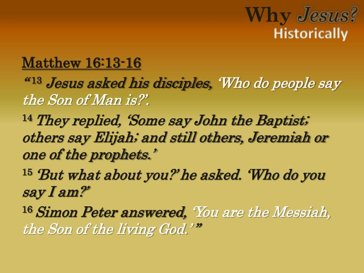 Matthew 16:13-16