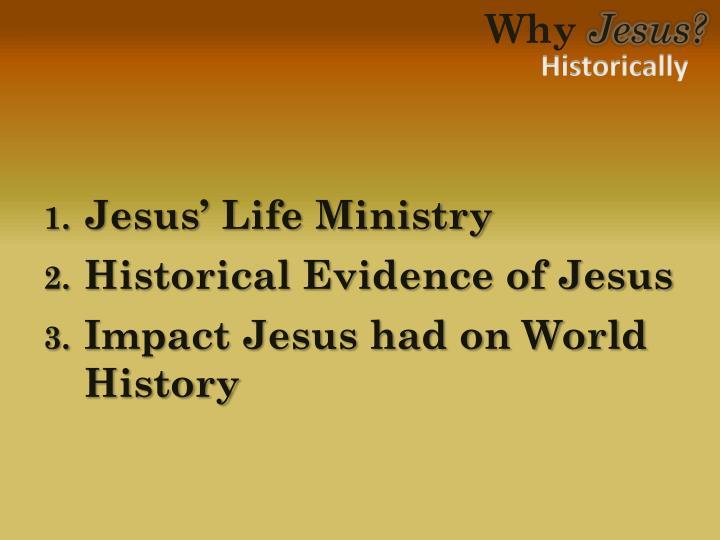 Jesus' Life Ministry