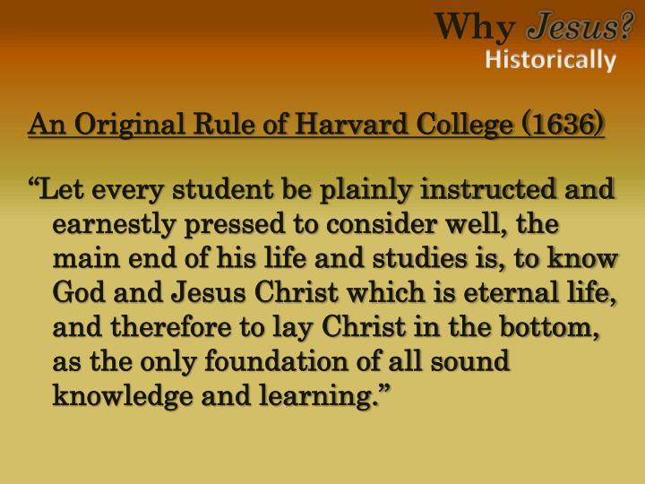 An Original Rule of Harvard College (1636)