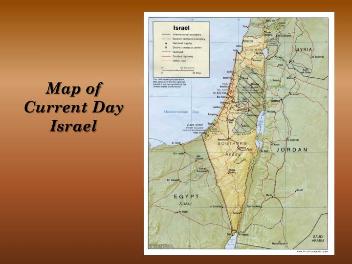 Map of Current Day Israel
