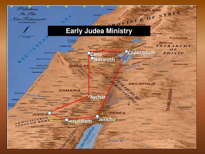 Early Judea Ministry