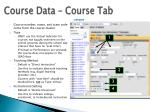 course data course tab