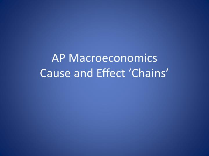 ap macroeconomics cause and effect chains n.