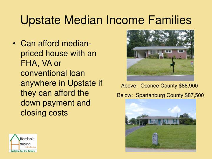 Upstate Median Income Families