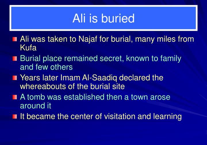 Ali is buried