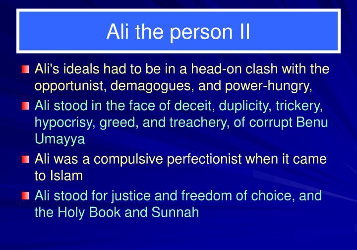 Ali the person II
