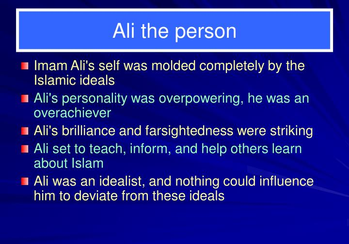 Ali the person